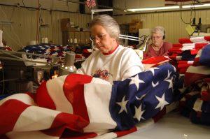 American Burial Flags